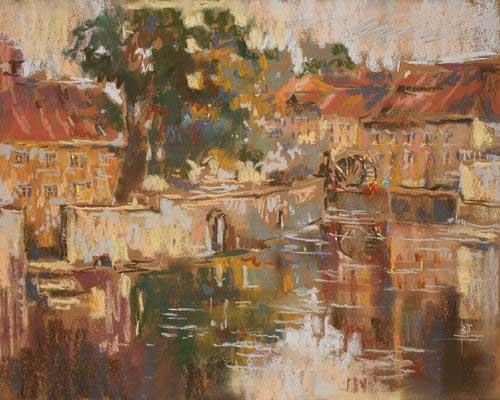 Пейзаж пастелью картины